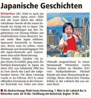 Zeitungsartikel von Darf es auch ein bisschen mehr Japan sein?