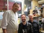 Im temporären Restaurant beim Sushikoch Sasaki