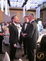 Thomas Köhler im Gespräch mit Edgar Dörig und Bundespräsident Didier Burkhalter